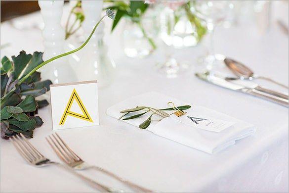 Wedding Place Card Template - 20+ Free Printable Word, PDF, PSD ...