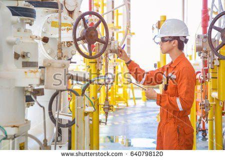 Operator Recording Operation Oil Gas Process Stock Photo 482493412 ...