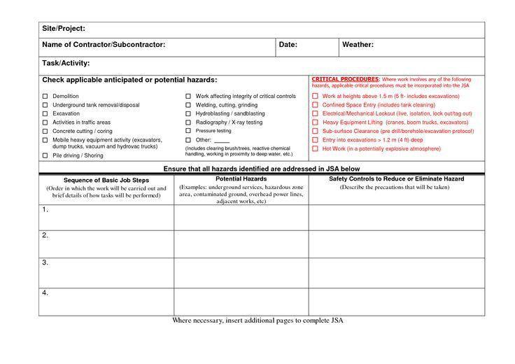 Blank JSA Forms | Jsa Example | jsa | Pinterest | Humor