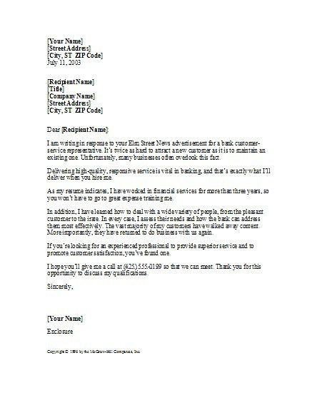 8 Customer Service Representative Cover Letter Cover Letter cover ...