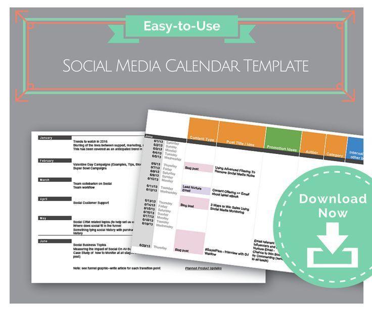 Best 25+ Social media calendar template ideas only on Pinterest ...