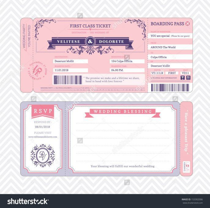 Concert Ticket Invite Template. concert ticket wedding invitations ...