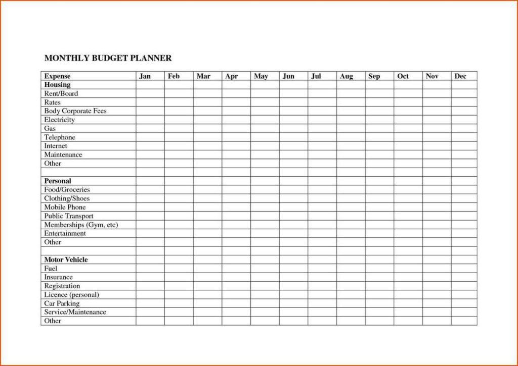 monthly expenses spreadsheet template free | Spreadsheets