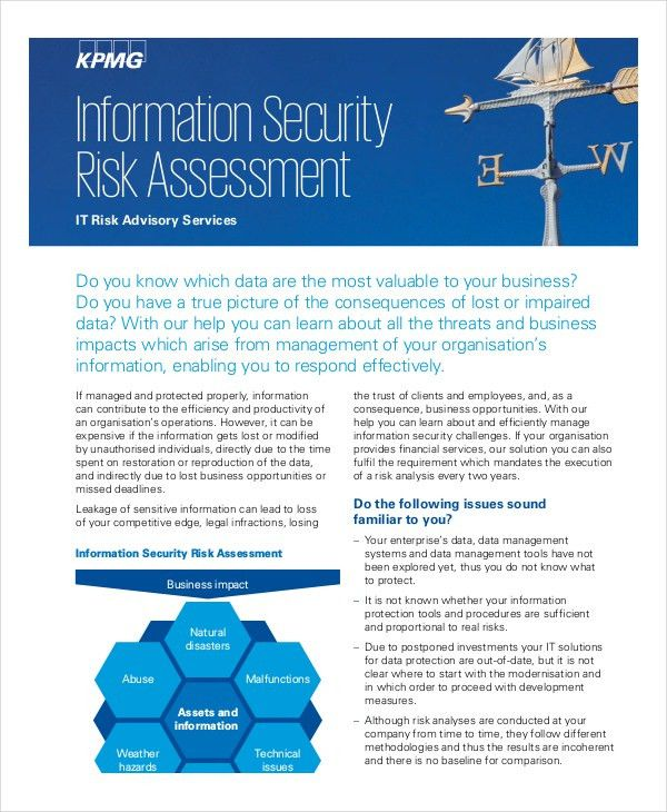 10+ Security Risk Assessment Templates - Free Samples, Examples ...