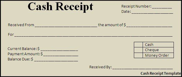 Cash Receipt Template - Best Word Templates