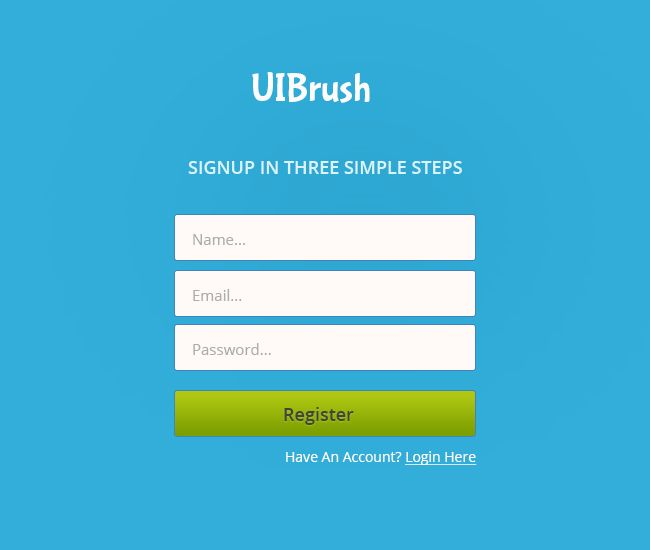 Sign Up Form Free PSD Template - UIBrush | Web Design | Pinterest ...
