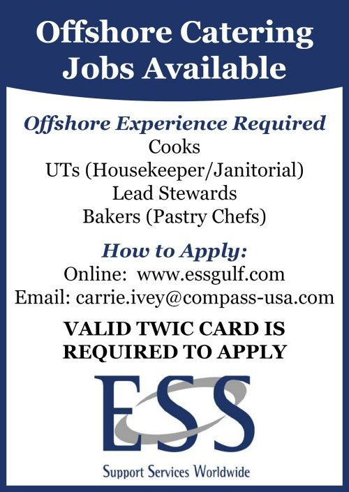 Offshore Catering Jobs Available - Oil & Gas Journal