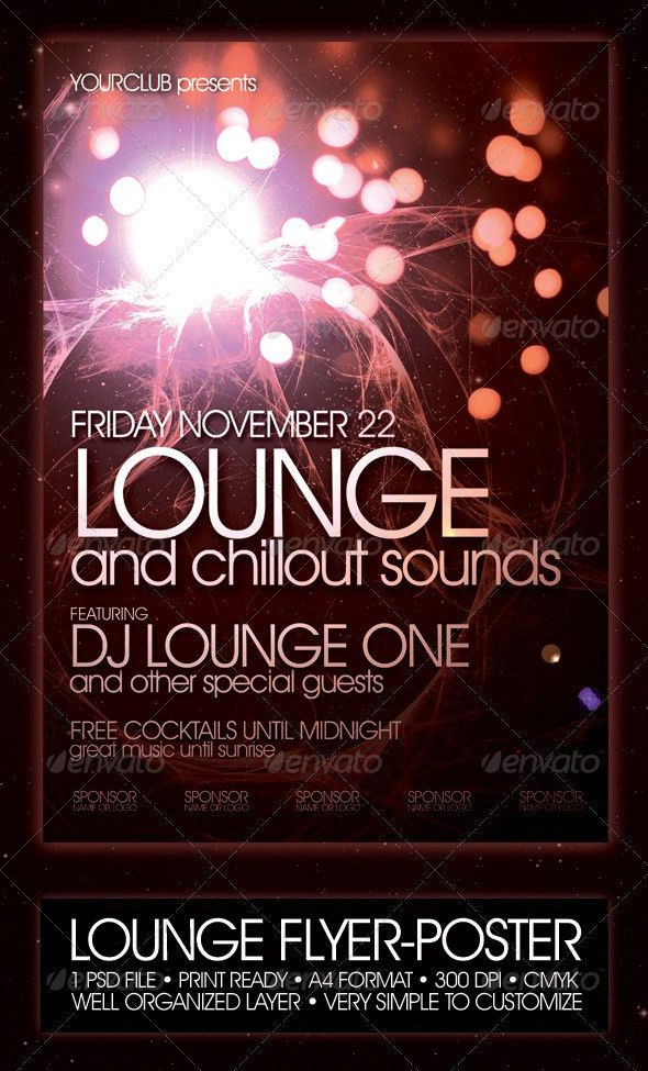 Lounge Flyer Poster Template | Night Club Fliers