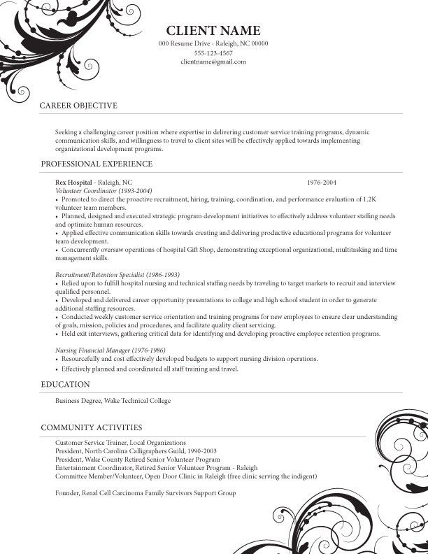 Caregiver Professional Resume Templates | ... Healthcare (Nursing ...
