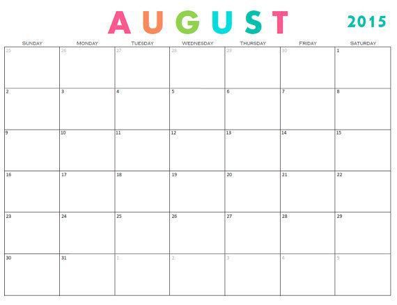 Best 25+ August 2015 calendar ideas on Pinterest | 1 august ...