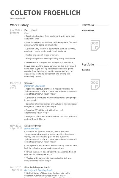 Farmer Resume Professional Farmer Templates To Showcase Your Talent