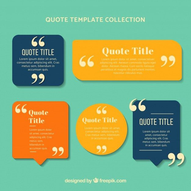 Colorful set of quote templates Vector | Free Download
