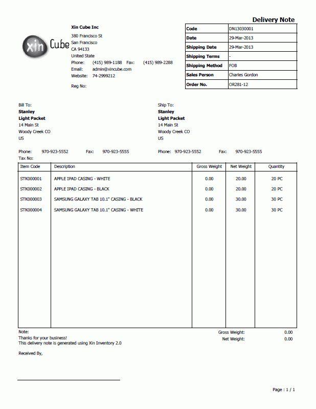 5+ delivery note samples | addressing letter