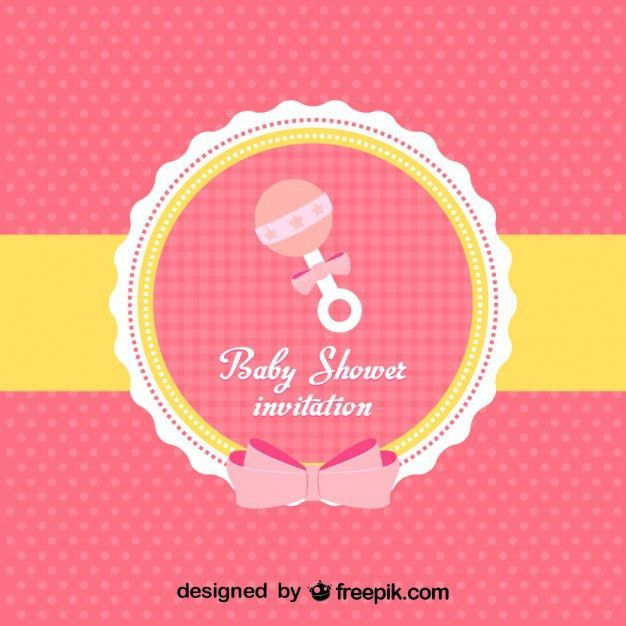 Baby Shower Invitation Vector | Free Download