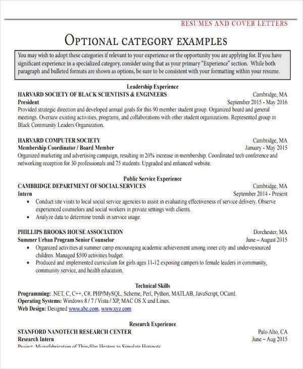 29+ Resume Examples   Free & Premium Templates