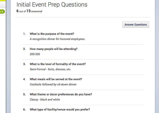 28+ Event Planning Questionnaire Template | 25 Best Ideas About ...