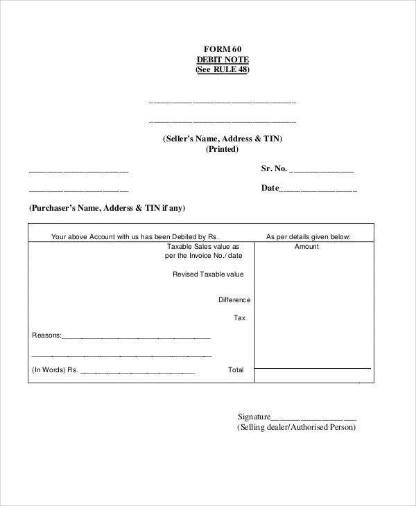 Debit Note Templates - 5+ Free Word, PDF Format Download | Free ...