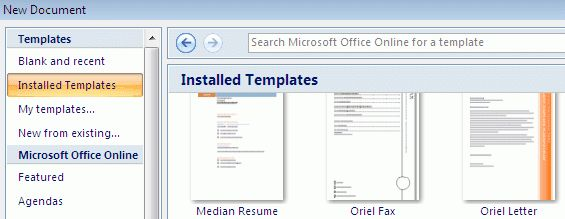 Using Microsoft Word Templates - Technology Help and Information ...