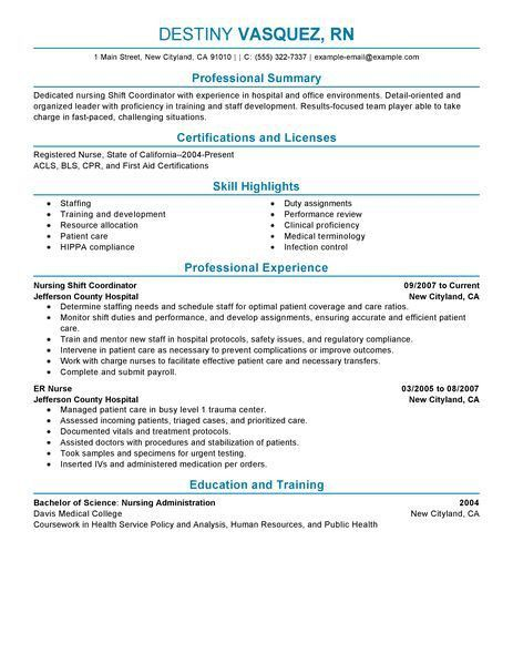 Best Shift Coordinator Resume Example | LiveCareer