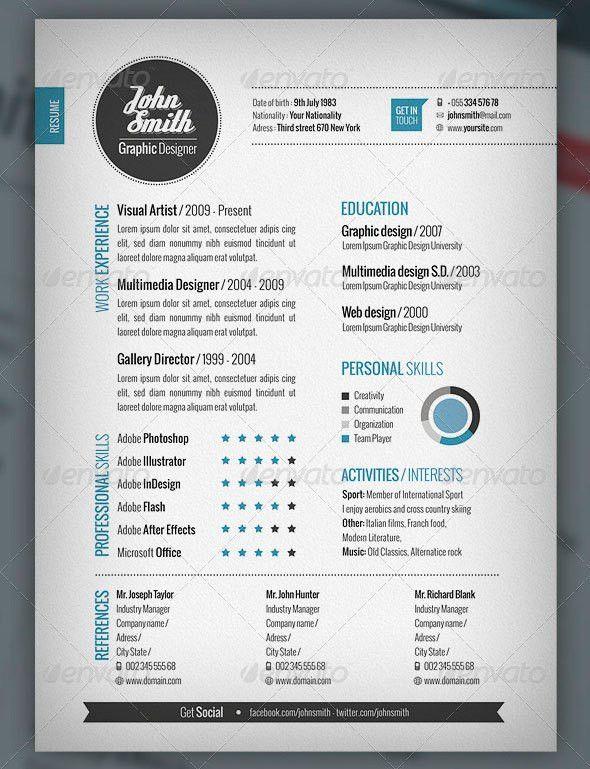 Plantilla CV and Cover Letter · Adobe Photoshop e Illustrator ...