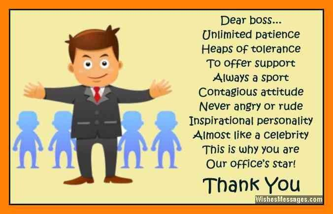 10+ thank you message to boss | informal letter