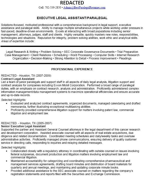 Resume Format And Samples For Paralegal Position : Vinodomia