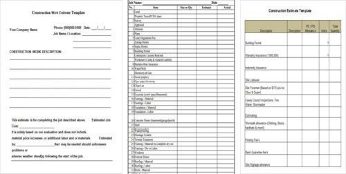 Download 5+ Free Construction Cost Estimate Template in Excel, PDF ...