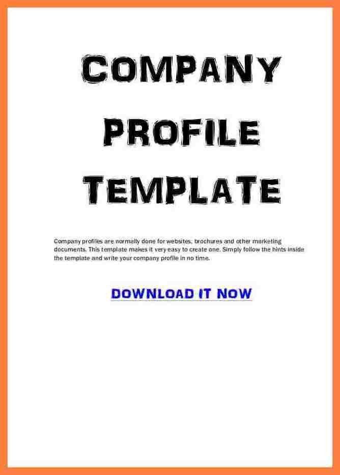 Company Profile Sample Download | Howto.billybullock.us
