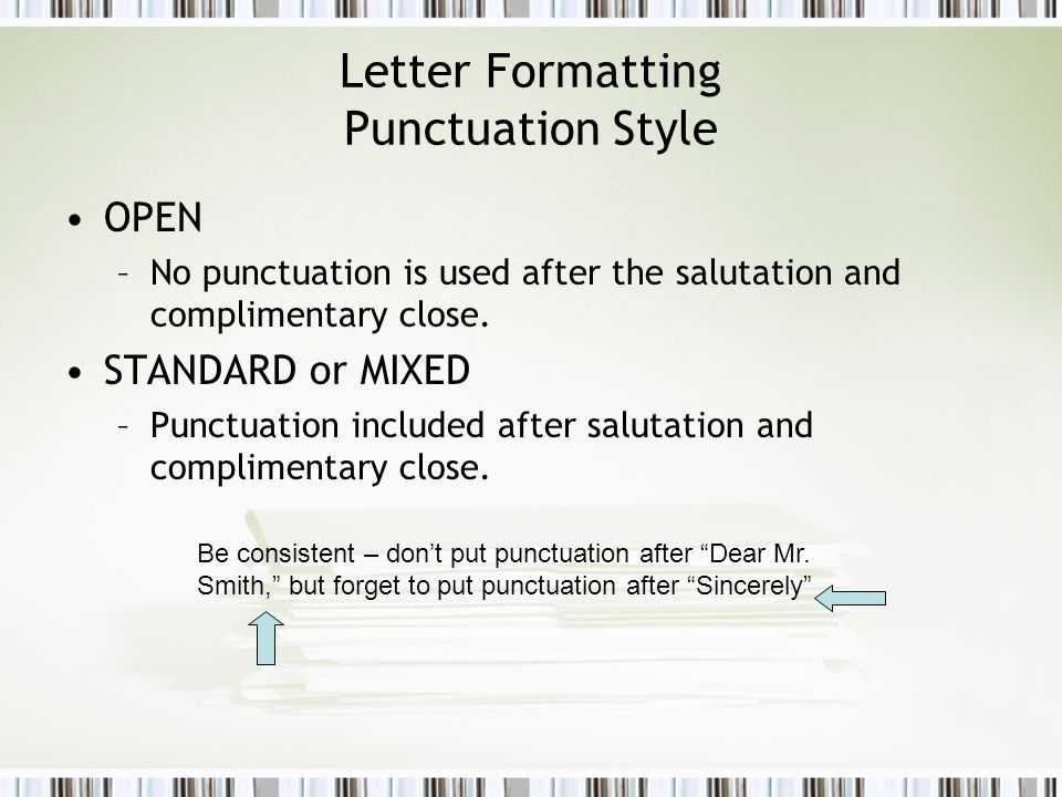 Formatting Business Documents - ppt video online download