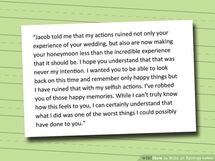 How to Write an Apology Letter: 15 Steps (with Pictures) - wikiHow