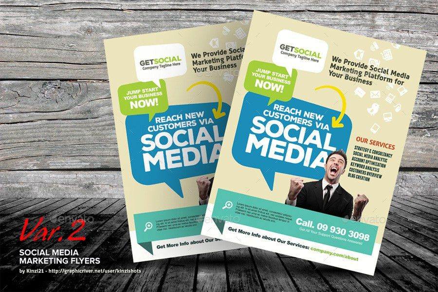 Social Media Marketing Flyer Templates by kinzishots | GraphicRiver