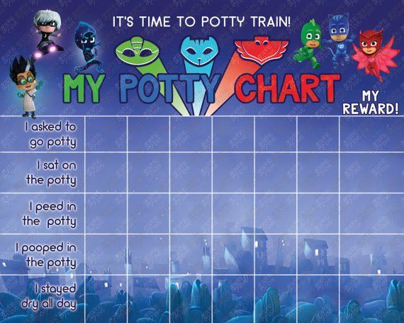 Printable Pj Masks Potty Training Chart FREE Punch Cards