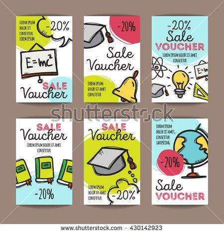 Vector Set Discount Coupons Fast Food Stock Vector 414797635 ...