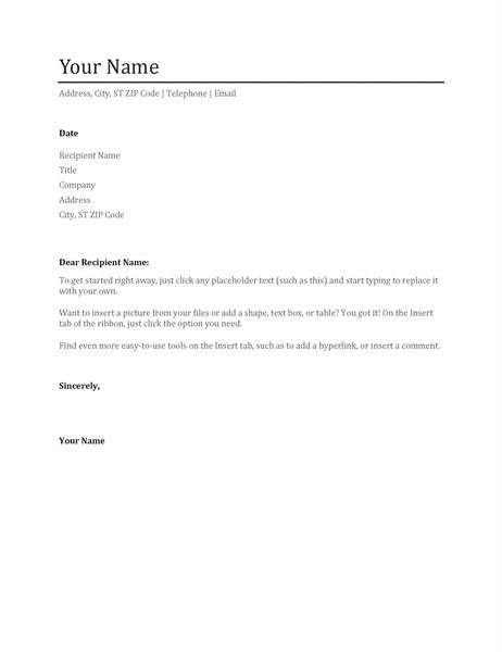 resume cover letter template word resume cover letter template for ...