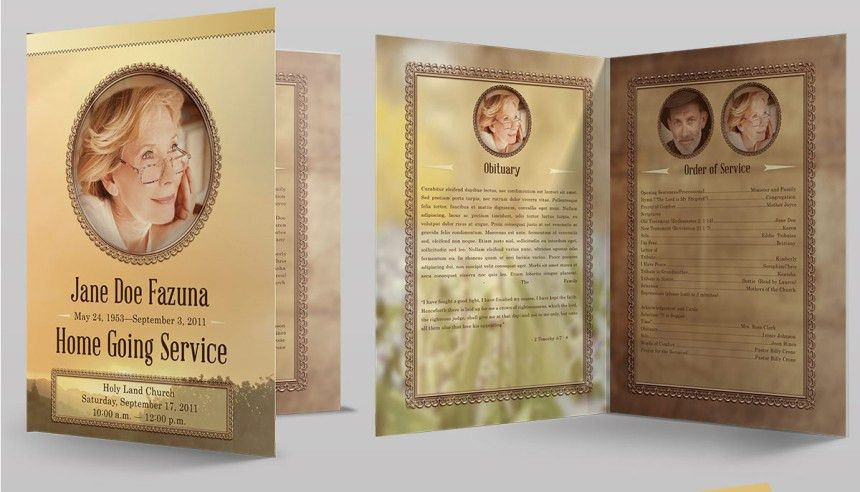 Amazing Funeral Program Booklet Templates - SeraphimChris: Graphic ...
