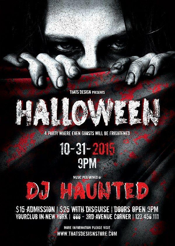 Halloween Flyer Bundle V2   TDS