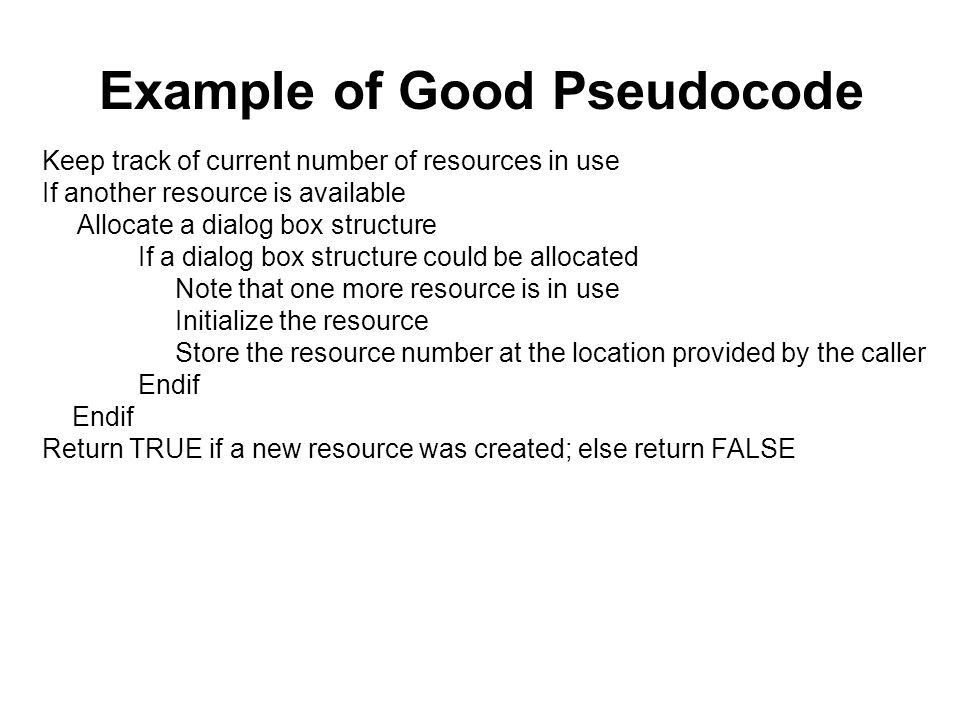 The Pseudocode Programming Process Chapter 9. Summary of Steps in ...
