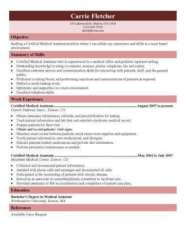 resume template for medical assistant 16 free medical assistant
