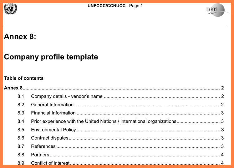 5+ sample company profile pdf   Company Letterhead