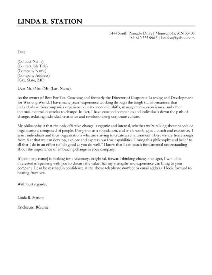 Good Cover Letter Template | Best Business Template