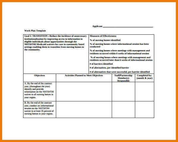 10+ work plan template | postal-carrier