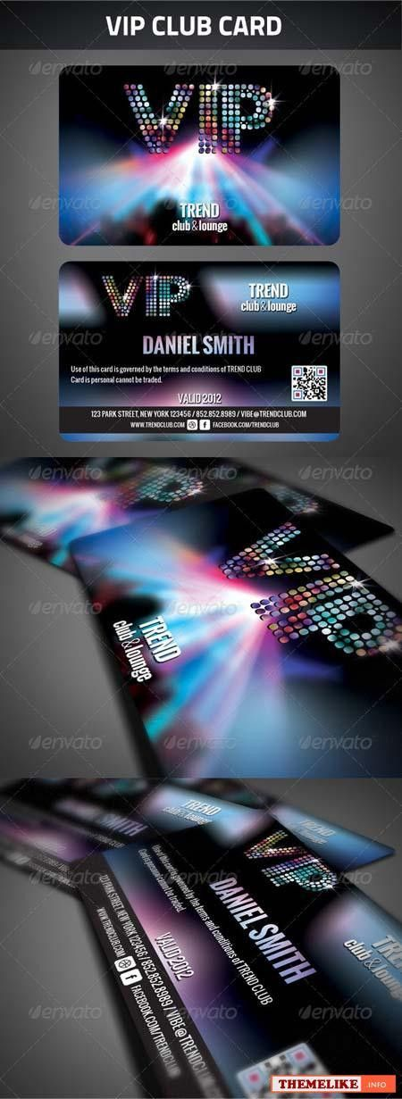 VIP club, vector card - All Design Template - Photoshop Vector