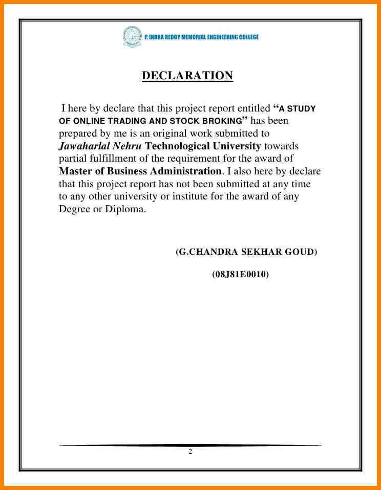 6+ declaration letter for courier   resume language
