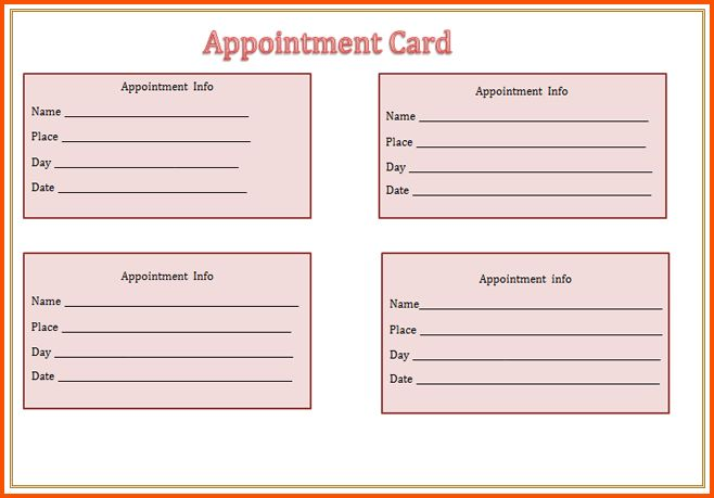 13+ appointment reminder template | Survey Template Words