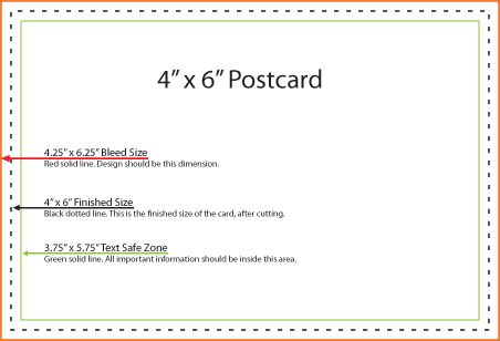 4+ postcard template for word | Outline Templates