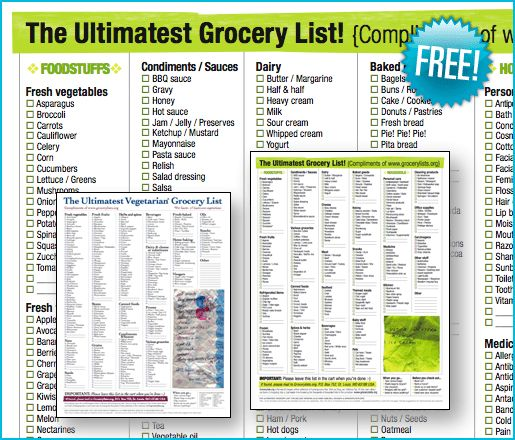 Grocery list printable, the best frugal tip is to make a menu for ...