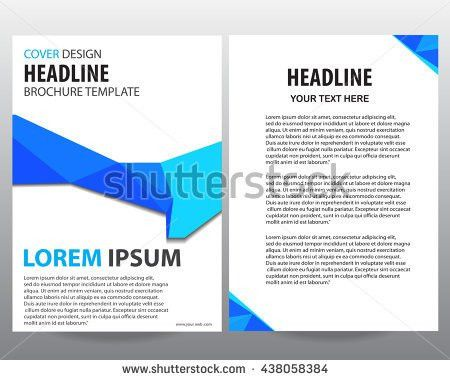 Abstract Blue Flyers Brochure Annual Report Stock Vector 438058384 ...
