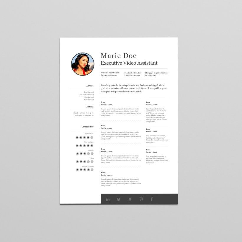 PROCV.BIZ – Professional Design Resume Templates for Word DocX ...