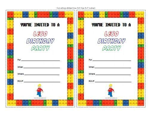 Top 25+ best Lego birthday invitations ideas on Pinterest | Lego ...