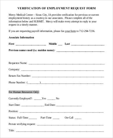 Employment Request Form. 33+ Sheet Templates   Free Sample .